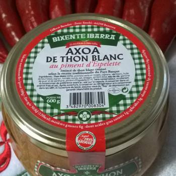 axoa de thon blanc au piment d'espelette pour 3 ou 4 personnes