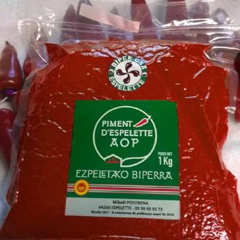 poudre de piment d'espelette aop 1kg